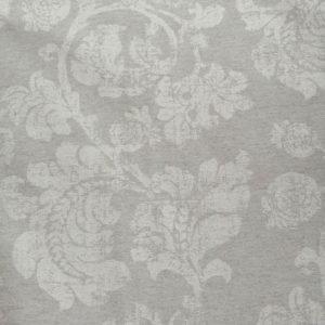 Meterware Beschichtete Baumwolle grau mit Rosen