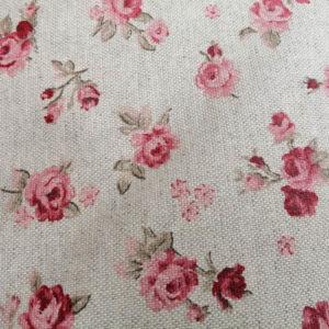 Meterware Beschichtete Baumwolle rosa Rosen