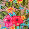 Stoff Hibiskusblüte - Meterware aus Baumwollmischung