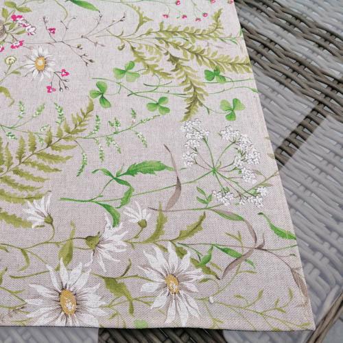 Tischdecken Outdoor Wiesenblumen (beschichtet) Kante