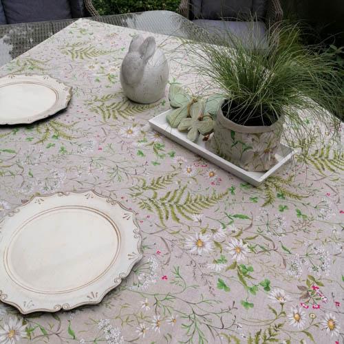 Tischdecken Outdoor Wiesenblumen (beschichtet) im Garten