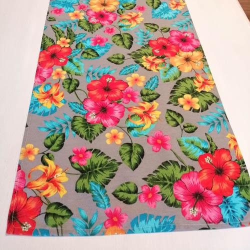 Tischläufer Hawaii Blumen aus Baumwollmischung Wohnzimmertisch