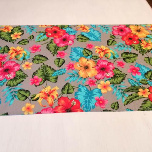 Tischläufer Hawaii Blumen aus Baumwollmischung Esstisch