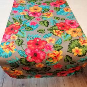 Tischläufer Hawaii Blumen aus Baumwollmischung