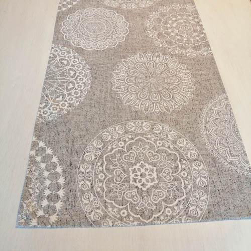 Tischläufer Mandala Muster aus Baumwollmischung