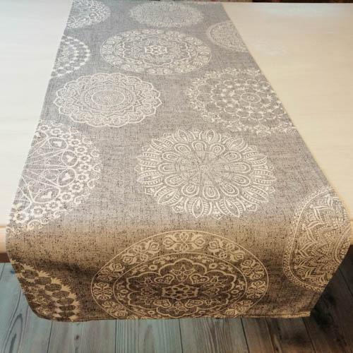 Tischläufer Mandala Muster aus Baumwollmischung Esszimmer