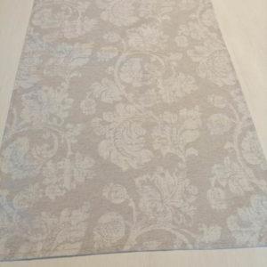 Tischläufer grau mit Blätterranken (beschichtet)