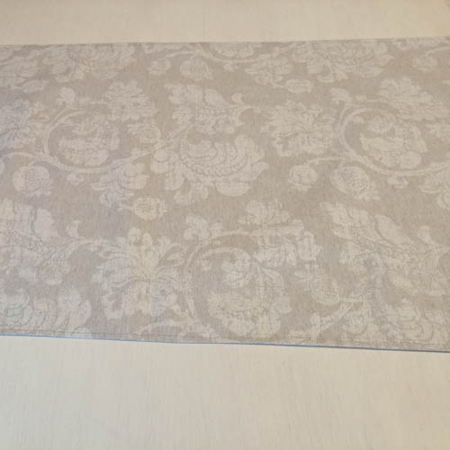 Tischläufer grau mit Blätterranken (beschichtet) Wohnzimmertisch