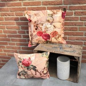 Wachstuchkissen Rosen Nostalgie4_Shop 50x50cm