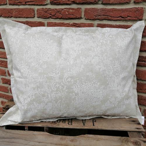 Wetterfeste Kissenbezüge Beige mit Blütenranken 45x60cm