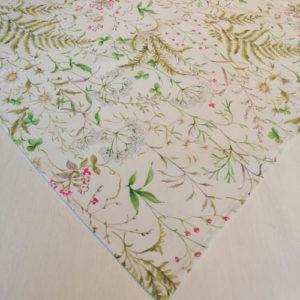 Mitteldecke Gräser und Blumen aus Baumwolle