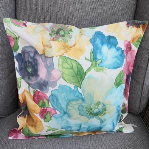 Geschenkideen zum Muttertag - Kissenhülle Blume bunt