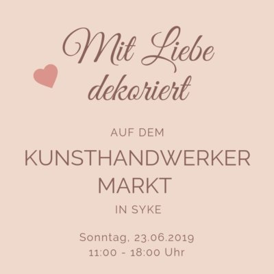 Mit Liebe dekoriert auf dem Kunsthandwerker Markt in Syke