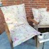 Kissen Gartenstuhl Blumen - Beschichtete Baumwolle