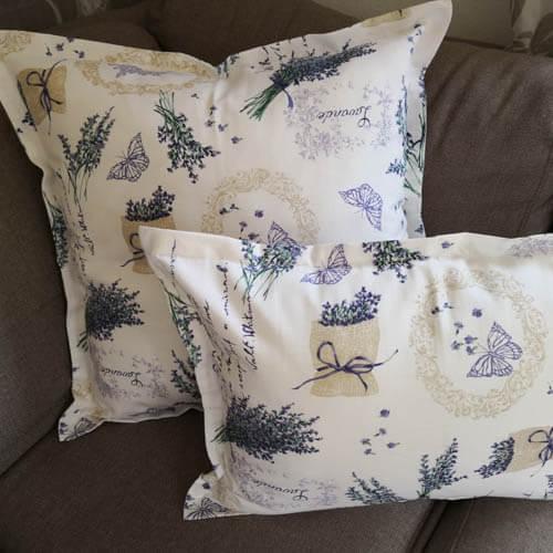 Geschenkideen zum Muttertag - Kissenhülle Lavendel