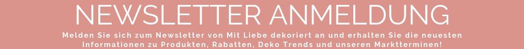 Newsletter Anmeldung Mit Liebe dekoriert