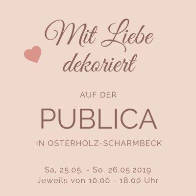 Mit Liebe dekoriert_Kissen und Tischdecken auf der Publica