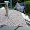 Mitteldecke rosa Rosen - Beschichtete Baumwolle