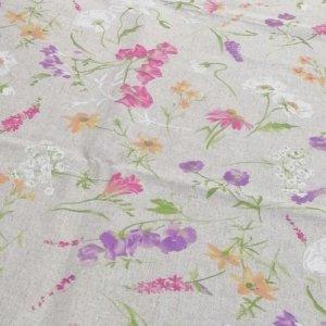 Gartentischdecke Blumen auf der Wiese (beschichtet)