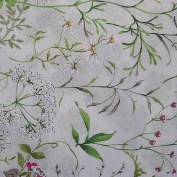 Tischdecke Gräser und Blumen aus Baumwolle