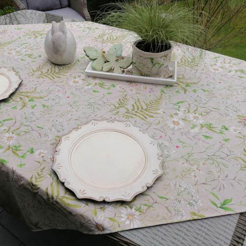 Geschenkideen zum Muttertag - Tischdecken Outdoor Wiesenblumen (beschichtet)