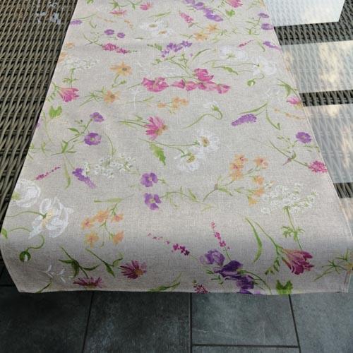 Tischläufer Blumen auf der Wiese 140 x 40cm