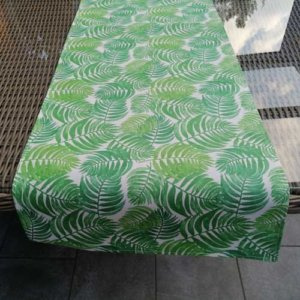 Tischläufer Farne aus beschichteter Baumwolle