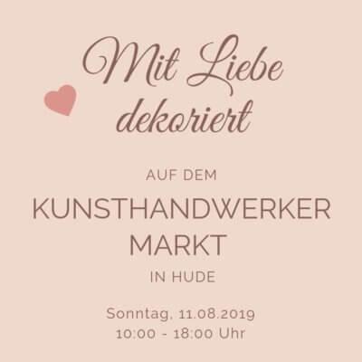 Mit Liebe dekoriert auf dem Kunsthandwerkermarkt im Klosterbezirk Hude