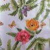 Wachstuch Tischdecke Schmetterlinge & Vögel - Blumen und Schmetterling