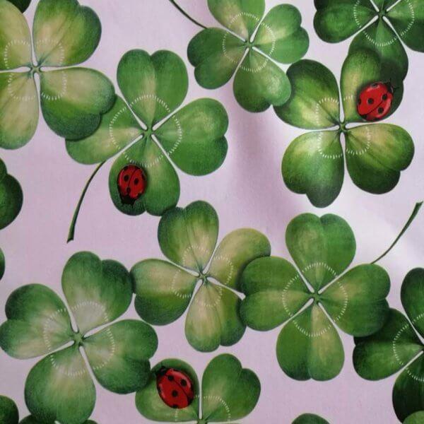 Wachstuch Tischdecke Blätter - Glücksklee