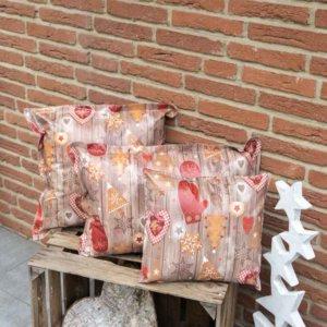 Kissen Weihnachten mit Lebkuchen Motiv 3 Größen