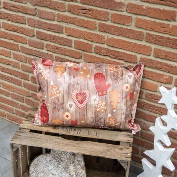 Kissen Weihnachten mit Lebkuchen Motiv 40x60cm