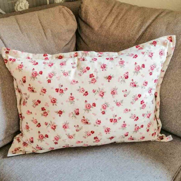 Kissenhülle Rosenmuster mit rosa Rosen 40x60cm
