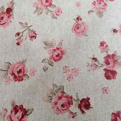 Meterware Rosa Rosen - Stoff Blumenmuster