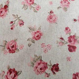 Mitteldecke rosa Rosen aus Baumwolle