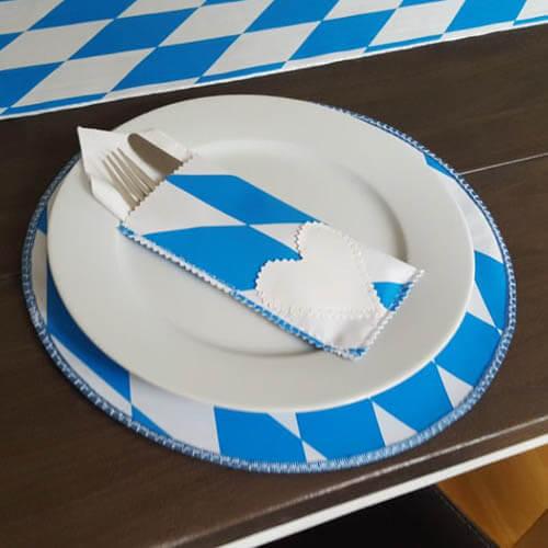 Oktoberfestdeko Platzset aus Wachstuch - Bayern