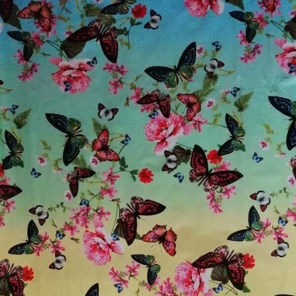 Wachstuch Tischdecke Schmetterlinge & Vögel - Schmetterling