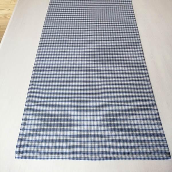 Tischläufer blau kariert
