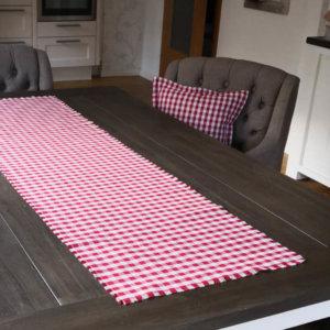Tischläufer rot kariert