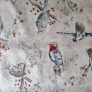 Wachstuch Tischdecke Schmetterlinge & Vögel - Vögel im Frühling