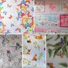 Wachstuch Tischdecke Schmetterlinge, Vögel, Tiere