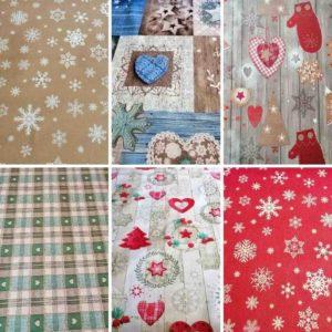 Wachstuch Tischdecke Winter & Weihnachten