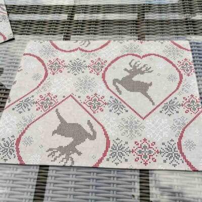 Tischset Hirsch aus beschichteter Baumwolle