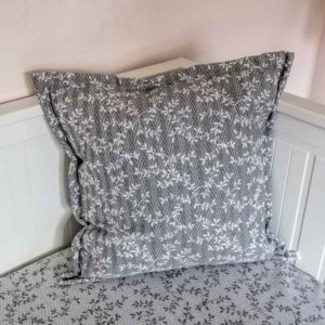 Kissenbezug Ranken aus Jacquard grau 50x50cm