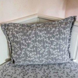 Kissenbezug Ranken aus Jacquard grau 40x60cm