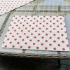Tischset Rote Punkte aus beschichteter Baumwolle