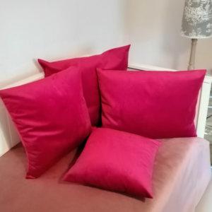 Samt Kissen pink – kuschelige Kissenhülle