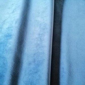 Samt Meterware Blau