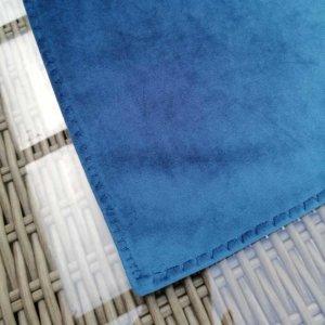 Samt Tischläufer blau Esstisch