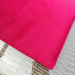 Samt Tischläufer pink